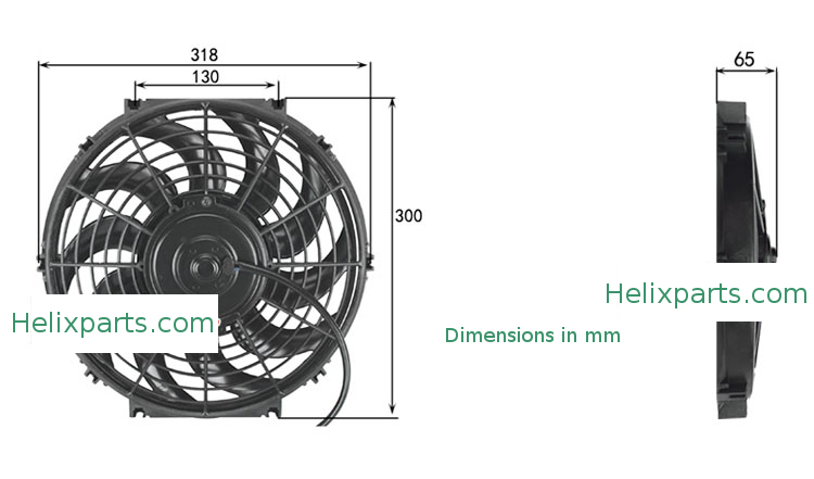 cooling fan dimension