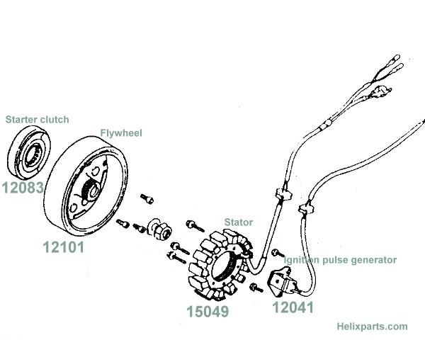 flywheel honda helix
