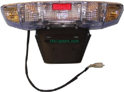Honda Helix taillight assembly with clear front turn signals